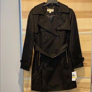 Michael Kors Black Trench Coat - Medium